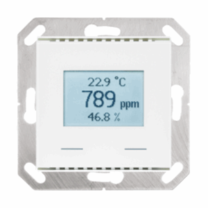 KNX Co2 regulator/temp, m/disp, KNX AQS/TH-UP Touch, hvit