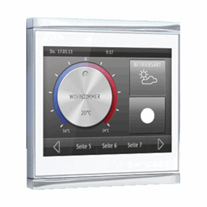 KNX Touch-panel, hvit, blank krom, Corlo Touch