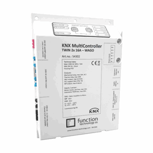 KNX MultiController TWIN 2x 16A relay, Wago