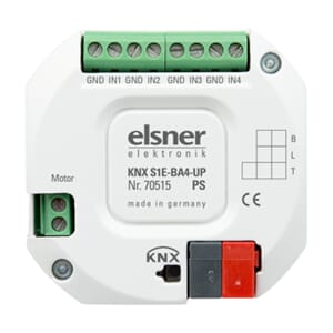 KNX Persienneutgang 1x, 4x DI/A ing. KNX S1E-BA4-UP PS