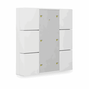 KNX Bryter 3-veis, Plus, LED, hvit matt, 55x55, BE-TA55P6.01