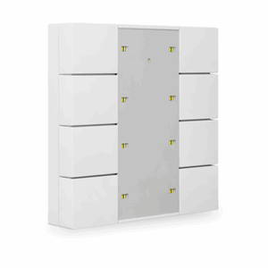 KNX Bryter 4-veis, Plus, LED, hvit matt, 55x55, BE-TA55P8.01