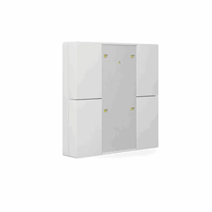 KNX Bryter 2-veis, Plus, LED, hvit blank, 55x55,BE-TA55P4.G1