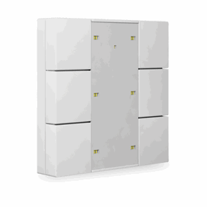 KNX Bryter 3-veis, Plus, LED, hvit blank, 55x55,BE-TA55P6.G1