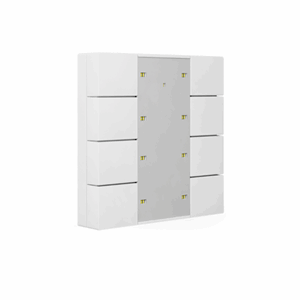 KNX Bryter 4-veis, Plus, LED, hvit blank, 55x55,BE-TA55P8.G1