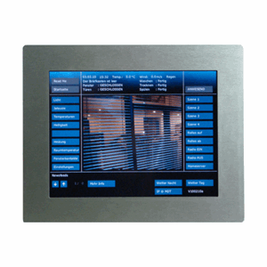 "Ramme Touchpanel 10"", rustfritt stål, VCB-10SI.03"