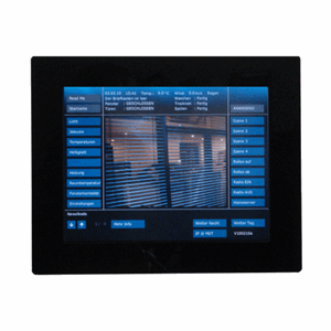 "Ramme Touchpanel 10"", sort glass, VCB-07SW.02"