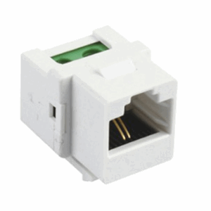 RJ45 connection terminal, binary input 1, White