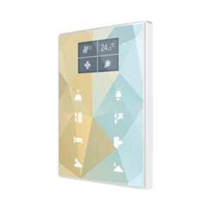 KNX Touchpanel m/ termostat og display (eget design), TMDD