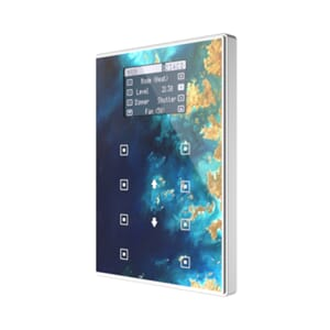 KNX Touchpanel m/ termostat og display, TMDV