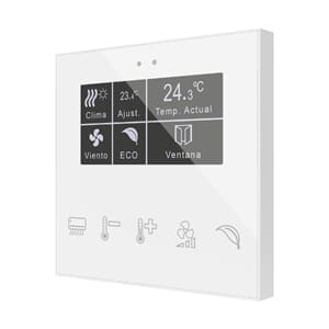 KNX Glassbryter Flat Display, Eget design
